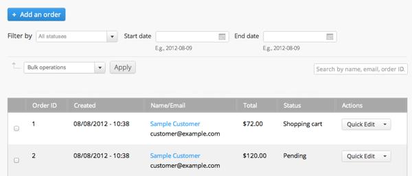 Commerce Kickstart Order Management