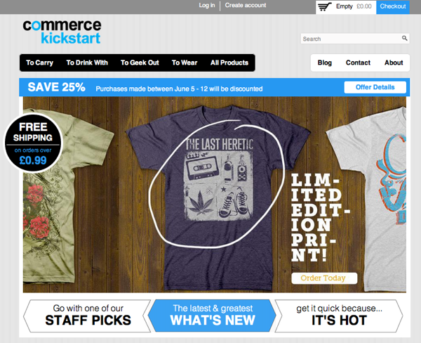 Commerce Kickstart screenshot