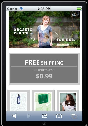 Commerce Kickstart on iPhone