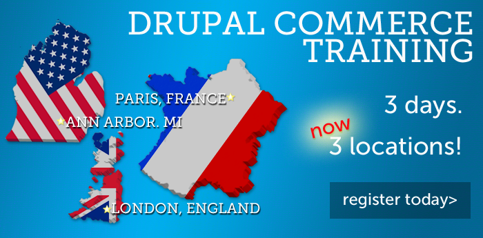 Drupal Commerce Training. 3 Locations